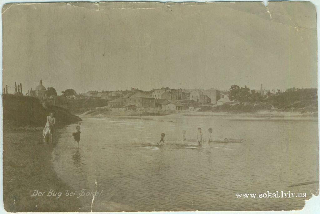 м.Сокаль, Річка Буг в Сокалі вигляд на Гето