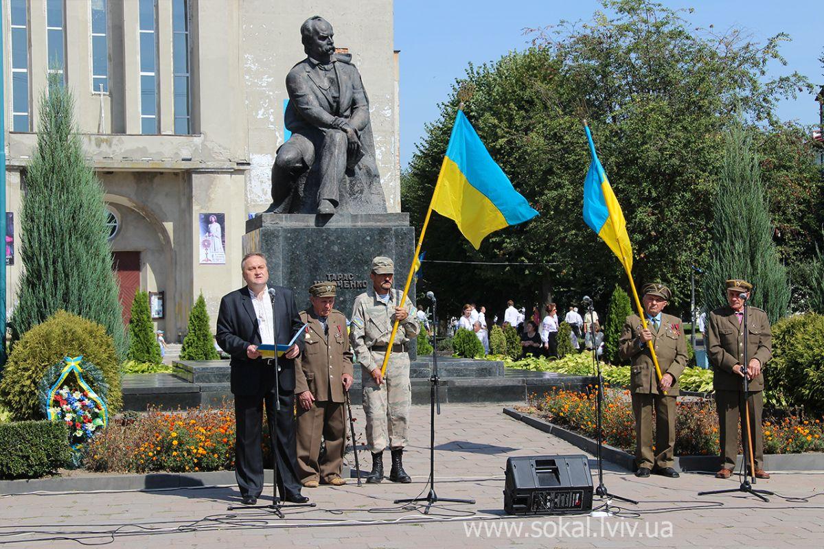 м.Сокаль, урочистостi з нагоди 24 річниці Незалежності Україниголова РДА Олег  Кожушко