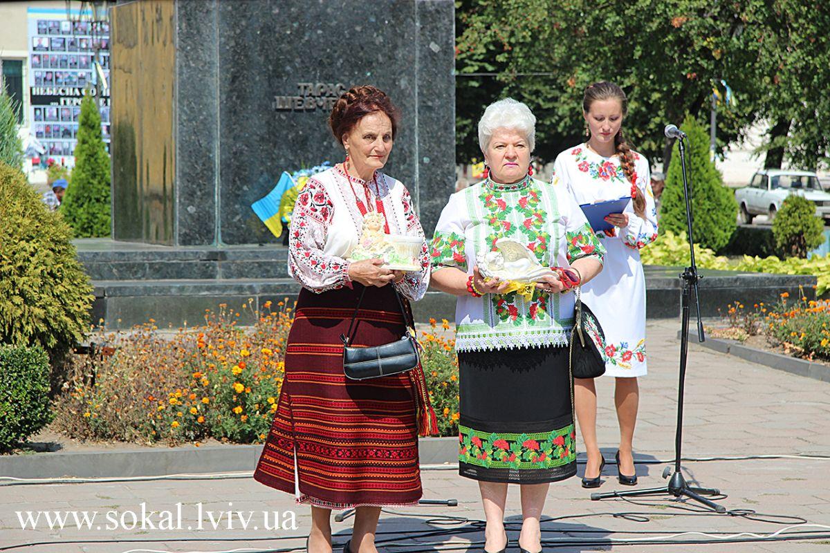 м.Сокаль, урочистостi з нагоди 24 річниці Незалежності Українипереможці акції