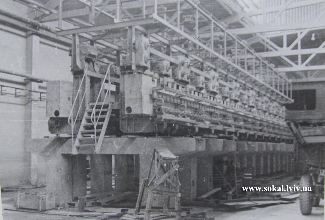 м.Сокаль, Монтаж прядильного агрегату 1969 р.