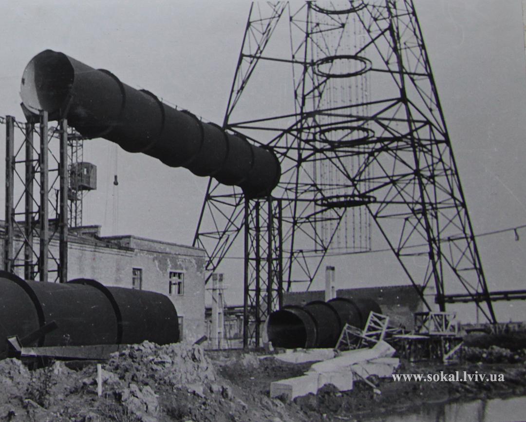 м.Сокаль, Будівля газоочистки і основні вентруби 1968 р.