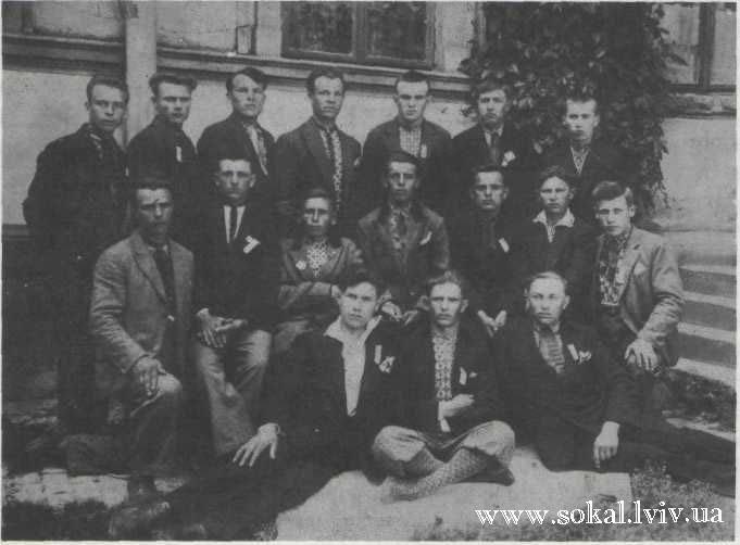 м.Сокаль, Група активістів руху національного опору в Сокальщині.