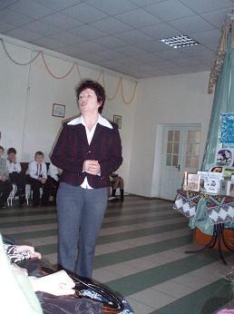м.Сокаль, освітаДиректор гімназії Л.М. Омеляш дякує учасникам за чудову організацію Шевченкового свята.