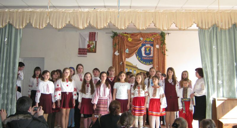 м.Сокаль, Під час Шевченківських днів у школіГ.І.Кулинич з вихованцями