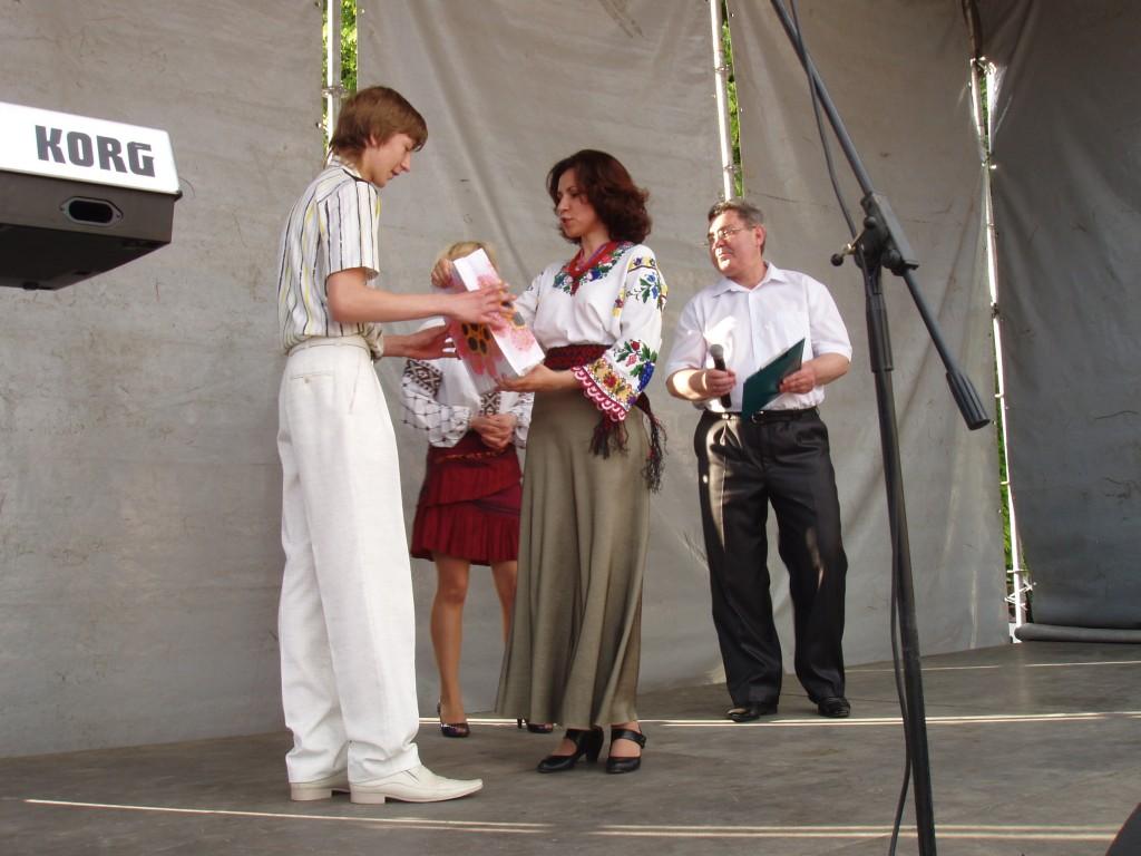 м.Сокаль, Cвяткування Дня міста у Сокалінагородження переможця конкурсу Назарія Михальчука
