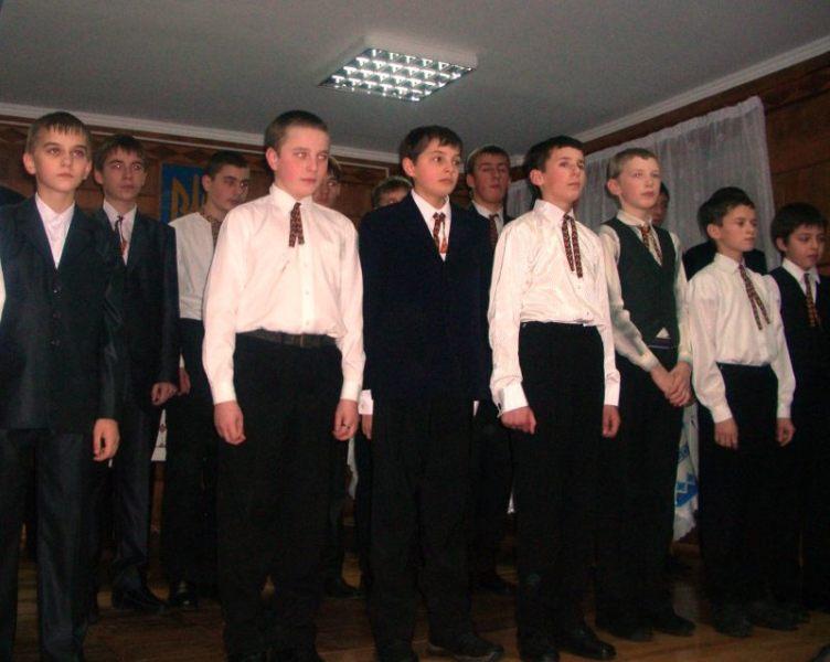 м.Сокаль, культурахор хлопчиків та юнаків